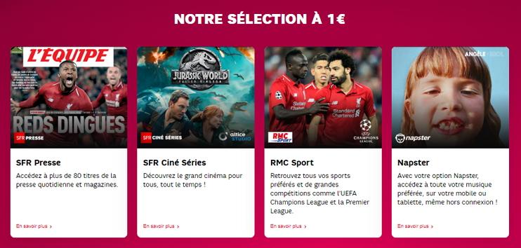 Promo forfait mobile et box SFR : les options à 1 euro par mois