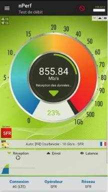 Le réseau SFR approche 1 Gb/s en 4G+ à Nantes