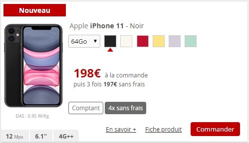 Tous les modèles d'iPhone 11 sont compatibles avec la 4G Free dans la bande des 700 MHz