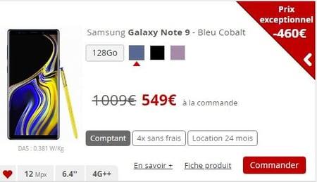 Samsung s9 pas cher chez Free Mobile