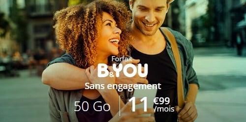 Alléger sa facture d'achat de l'iPhone 11 en souscrivant un forfait pas cher avec prix garanti à vie comme la série limitée B&YOU