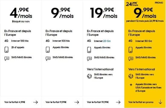 Forfait promo chez Sosh : 50 Go pour 10 euros par mois