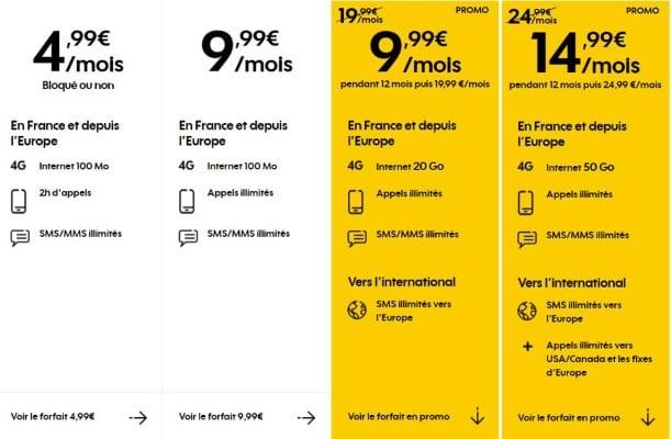 Forfait mobile en promotion en juillet 2019 : prix réduits chez Sosh