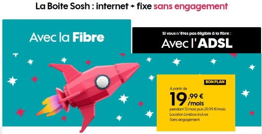 Box Internet sans engagement : offre Sosh