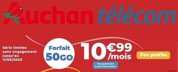 Le nouveau forfait mobile Auchan télécom est l'un des meilleurs forfaits du moment