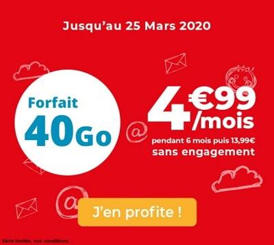 Nouvelle promo Auchan télécom : 40 Go à 4,99€/mois