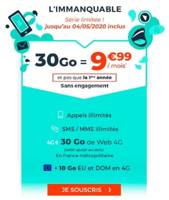 Un forfait 30 Go à seulement 9,99€/mois à vie avec le nouveau forfait en promo Cdiscount Mobile