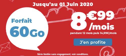 Auchan Telecom 60 Go à 8,99€/mois : le meilleur forfait data du moment en termes de prix
