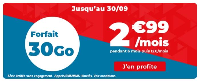 30 Go pour 2,99€/mois : le forfait en promo d'Auchan Télécom