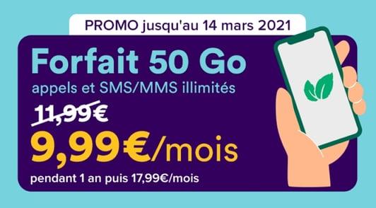 Détails du forfait 50Go à petit prix chez Mint Mobile