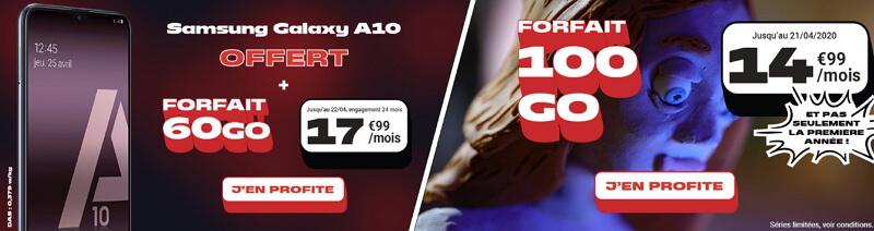 Les promotions NRJ Mobile à souscrire en avril 2020 : 100 Go à 14,99€/mois ou 60 Go à 17,99€/mois avec téléphone offert
