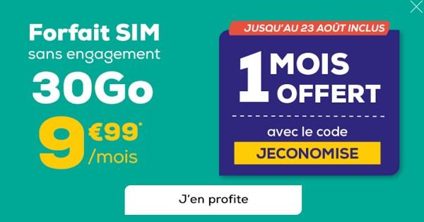 Un mois offert avec le forfait 30 Go La Poste Mobile