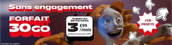 Nouvelle promotion NRJ mobile : le forfait 30 Go est à seulement 3,99€/mois