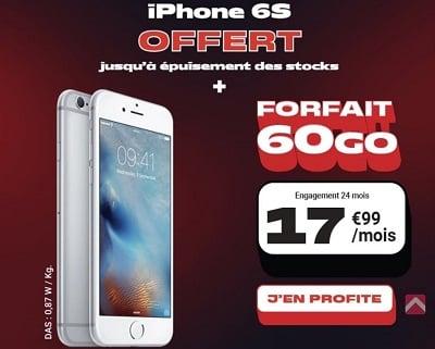 L'iPhone 6S est offert avec la nouvelle promotion NRJ Mobile