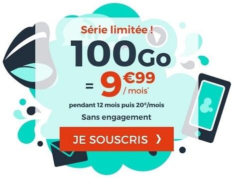 100 Go à seulement 9,99€/mois, c'est la nouvelle série limitée Cdiscount Mobile.