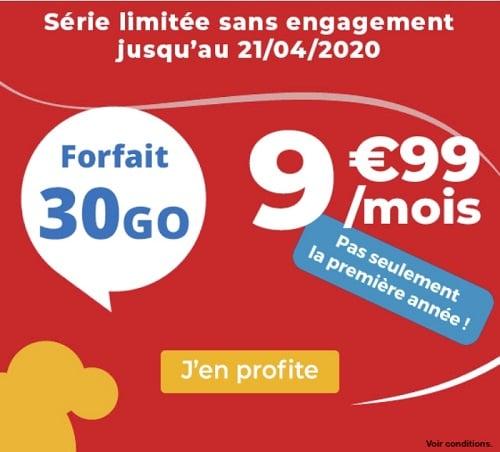 Nouvelle série limitée Auchan télécom