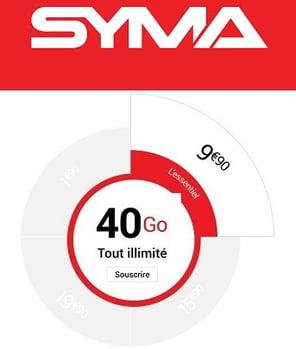 Le forfait 40 Go de Syma est le meilleur abonnement sur le réseau Orange