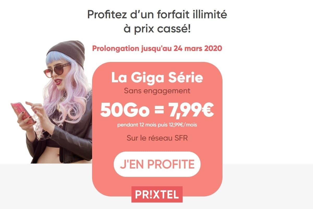 Forfait mobile : détails de la vente privée Prixtel jusqu'au 24 mars 2020