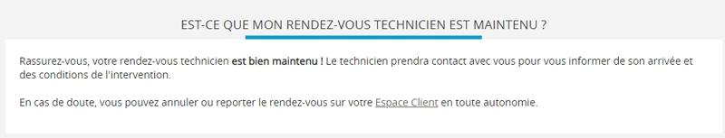 Rendez-vous techniciens maintenus chez Bouygues Telecom