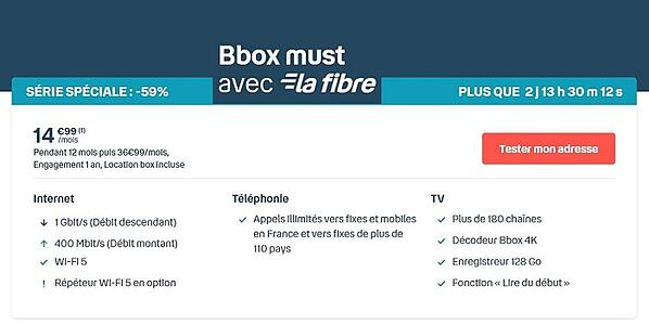 La Bbox Must est une box internet triple play