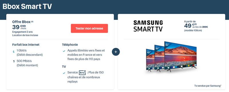 L'abonnement Bbox Smart TV est disponible sur le site de Bouygues Telecom