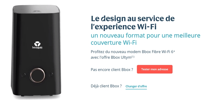 Le modem Bbox Wi-fI 6