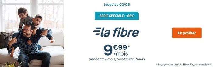 Bon plan avec la Bbox Fit fibre de Bouygues Telecom à 9.99€/mois