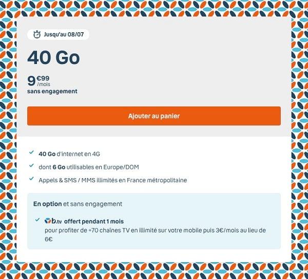 la série spéciale B&YOU 40 Go est l'un des meilleurs forfaits mobiles du marché
