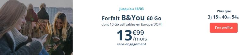 Souscrire le forfait en promotion Bouygues Telecom