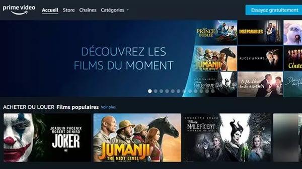 Amazon lance Store Prime Video pour louer ou acheter des films
