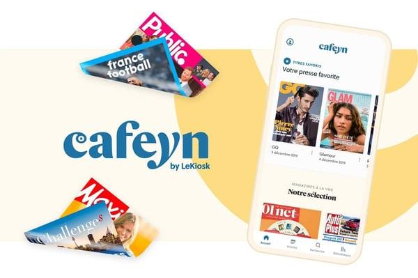Cafeyn est un kiosque numérique.