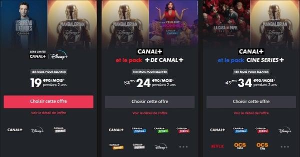 Les meilleures offres Disney+ avec Canal
