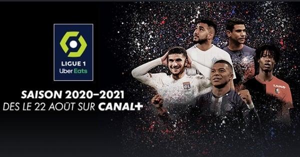 Deux rencontres de Ligue 1 sont diffusées à chaque journée sur Canal+.