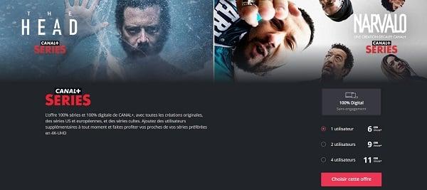 Canal+ Séries est le service de vidéo en streaming de Canal+