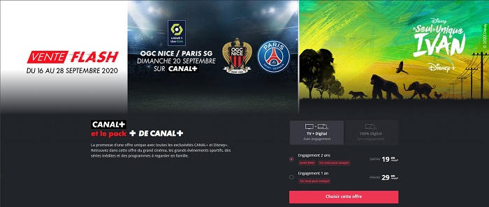 L'offre Canal Plus avec le pack Plus de Canal+ et Disney+ est à seulement 20€/mois