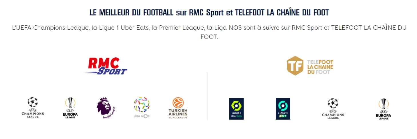 Les compétitions à regarder en streaming sur Téléfoot et RMC Sport
