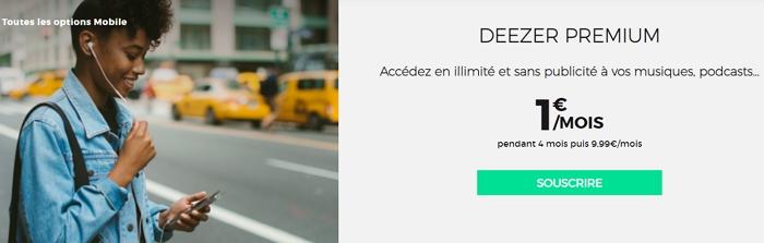 Deeezer Premium en promotion chez RED : 1€/mois pendant 4 mois