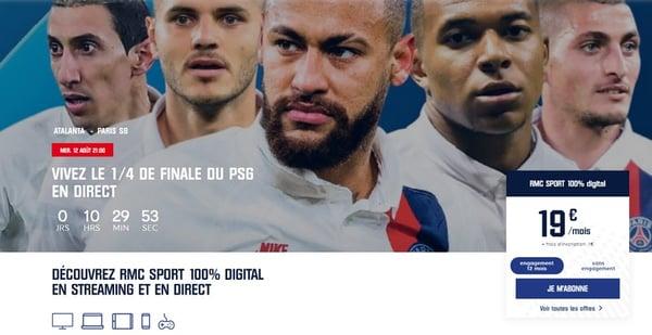 PSG - Bergame en exclusivité sur RMC Sport
