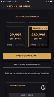 Pas d'offre Téléfoot + netflix sur l'App Store
