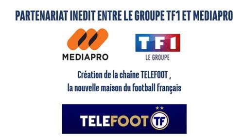 Les groupes TF1 et Mediapro ont signé un accord pour créer la chaîne Téléfoot
