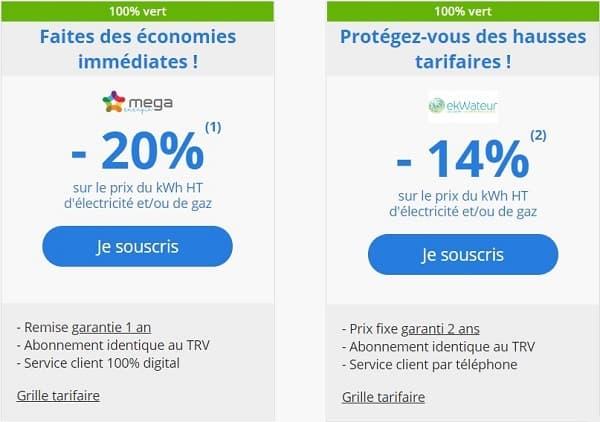 vente-Deux offres exceptionnelles dans la vente privée Energie Verte