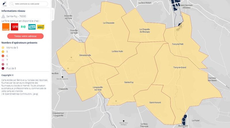 Couverture fibre de la Seine-Maritime : Saint-Foy et sa région