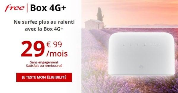 Box 4G Free pour le faible débit ADSL