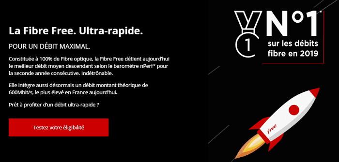 Free premier sur le débit fibre en France