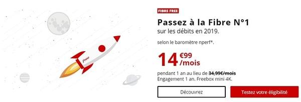 La Freebox Mini 4K est l'offre triple-play la moins chère du marché