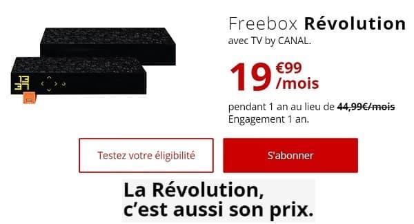 Sur deux ans, la Freebox Révolution revient moins cher que la Freebox Pop