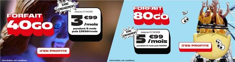 Les deux séries limitées 40 Go et 80 Go de NRJ mobile sont en piste jusqu'au 21 octobre
