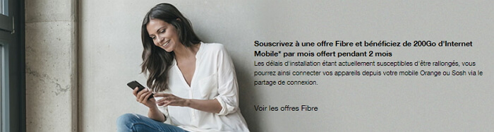 Raccordement fibre Orange et confinement : 200 Go offerts