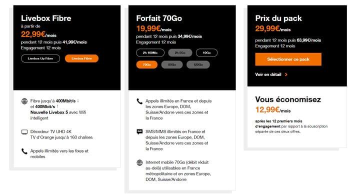 Orange Open 70 Go : sélection de la box et du forfait mobile