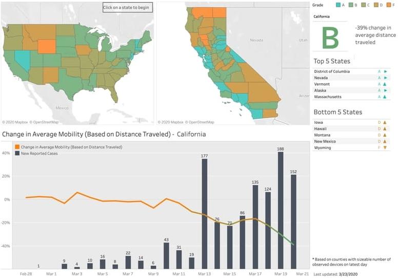 Coronavirus : la géolocalisation pour surveiller le confinement aux Etats-Unis